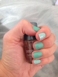 Hint of Mint Lacquer and So Fresh Jamberry Nails Pretty nails.....you can order here: http://macey.jamberrynails.net