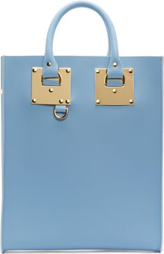 •Website: http://www.cuteandstylishbags.com/portfolio/sophie-hulme-sky-blue-mini-albion-tote-bag/ •Bag: Sophie Hulme Sky Blue Mini Albion Tote Bag