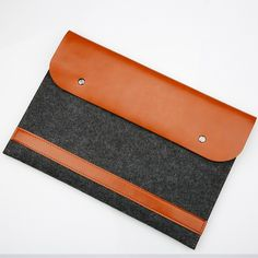 Felt&PU Leather Laptop Bag Ultra Slim Sleeve Case Pouch Pocket Cover Carry Envelope Bag For Macbook Air Pro Retina 11 12 13 15 Macbook Air Retina, Macbook Pro Touch Bar, Shape Collage, Beauty Video Ideas, Style Outfits, Best Cell Phone, Macbook Sleeve, Laptop Accessories, Leather Accessories