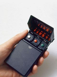 Heuer electronic stopwatch, model 520, 1974. By Richard Sapper