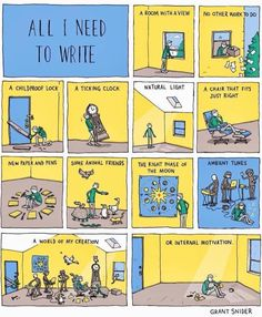 All I Need To Write, by Grant Snider