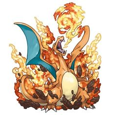 Charizard, use Flamethrower! Pokemon Go, Fire Pokemon, Pokemon Fan Art, Cool Pokemon, Pikachu, Pokemon Pins, Pokemon Fusion, Pokemon Cards, Charmander Charmeleon Charizard
