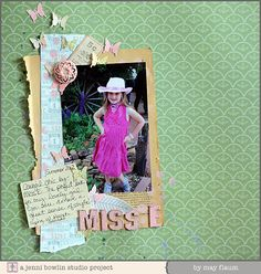 jbs inspiration: May Flaum's Painted and Inked Up Layout