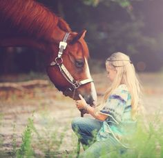 All horses deserve at least once in their life to be loved by a little girl