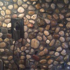 DIY Rock (Simple) Backsplash Idea