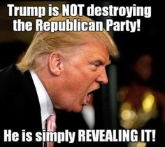 """He's putting all your Dirty Laundry right out on the front porch for The World To See! Don't let any Republican get away with that """"I'm Not A Racist BS."""" They ARE and now the World knows the Truth! Now it's up to the Decent Americans to step up and show up by the Millions to the polls to show Republicans WE WILL NOT LIVE THIS WAY and WE'RE NOT TAKING THEIR DIVISIVE BULLSHIT ANYMORE!! VOTE BLUE 2016!!!"""