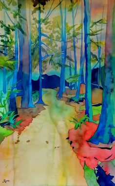 """NEW PAINTING COMPLETE! """"The Trail Leading Somewhere New"""" #Watercolour, 30x20"""" **Message me if you'd like to make it yours!** 🖌️🎨 blassart.com #art #artforyourhome #originalartworks #fineart #watercolorart #painting #landscape #westcoast #vancouver #forest #trees #hiking #trail #jugislandtrail #BC #canada #canadianartist #womanartist #BlassArt #artcollectors #artlovers Watercolor Paintings, Watercolours, Canadian Artists, Artist Art, Storytelling, Diy And Crafts, Original Art, Fine Art, Make It Yourself"""
