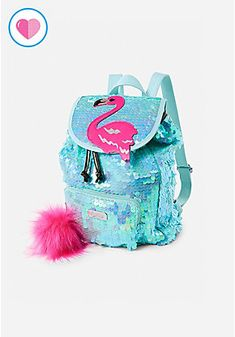 Justice is your one-stop-shop for on-trend styles in tween girls clothing & accessories. Shop our Flamingo Flip Sequin Mini Rucksack. Justice Backpacks, Justice Bags, Cute Mini Backpacks, Girl Backpacks, Fashion Bags, Fashion Backpack, Mochila Jansport, Mini Backpack Purse, Reborn Baby Girl
