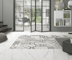 ROCCIA offer the North's largest selection of porcelain wall tiles for kitchens and bathrooms. Ceramic Tile Floor Bathroom, Kitchen Wall Tiles, Porcelain Tiles, Brown Bathroom Decor, Bathroom Wall Decor, White Tiles, White Marble, Design Salon, Style Tile