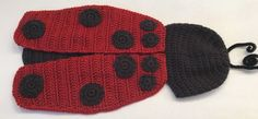 Crochet Ladybug Baby Photography Prop Knitted Newborn Animal Costume Costume #Unbranded