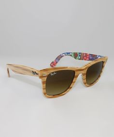 Love this Ray-Ban Light Wood Textured Wayfarer Sunglasses by Ray-Ban on #zulily! #zulilyfinds