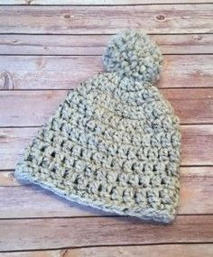 Make the Lakeside Beanie by Stitch & Hustle with Lion Brand Wool-Ease Thick & Quick! This is a great project for beginners - get the free crochet pattern and make it with just one ball of yarn and a size N crochet hook!