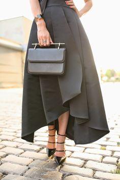 """Just ALL GLAM"" Skirt:St.John Shoes:Gianvito Rossi Bag: M2M. Sunglasses: Karen Walker 'Super Duper', Cuff: Hermes,  Rings: Cartier,..."