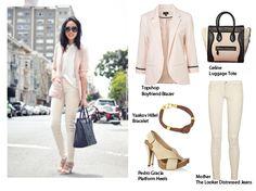 A Whiff of Pink Vanilla Pink Chiffon Dress, That Look, Take That, Boyfriend Blazer, Celine Luggage, Shopping Spree, Vanilla, Topshop, Loft