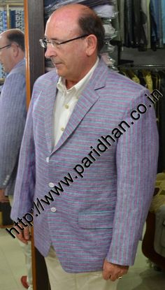 Gorgeous look light blue color three button linen blazer. Dry clean only.