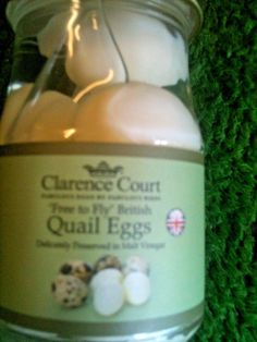 Pickled Quails Eggs traditionally preserved in malt vinegar. #ClarenceCourt