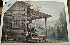 JEST RECOLLECTING  limited edition print by Lee Roberson artist of The Smokies