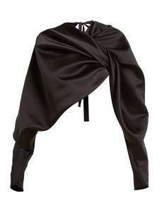 Knotted cropped satin jacket | Colville | MATCHESFASHION.COM UK