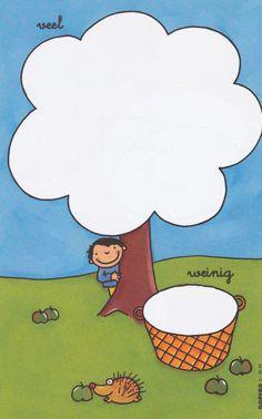 Spelen met begrippen: veel - weinig Preschool Apple Theme, Preschool Activities, Kindergarten Math Worksheets, Diy And Crafts, Crafts For Kids, Magic Squares, Apple Season, Play Doh, Autumn Leaves