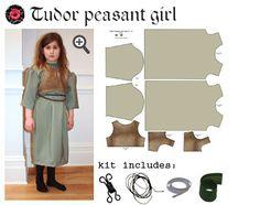 tudor girl historical costume sewing kit for kids