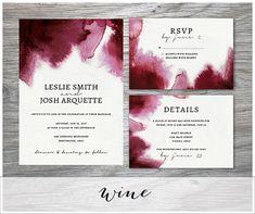 Classic Watercolor Wedding Invitation Suite Digital Download