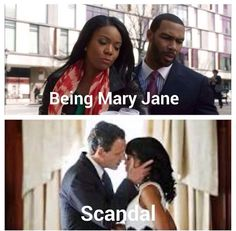Two of my favorite shows Scandal // Being Mary Jane