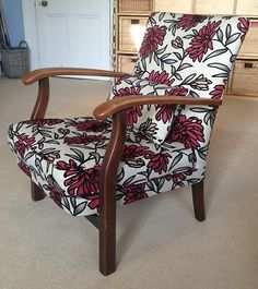 PARKER KNOLL Arm Chair re-upholstered in Funky Modern Fabric | eBay