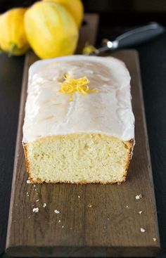Iced Lemon Loaf Recipe - lemon loaf cake with a tart and sweet lemon icing!