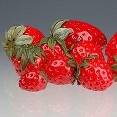 Elizabeth Johnson Glass Strawberry Beads