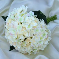 Artificial Hydrangea Flower Bridal Bouquet - Blush