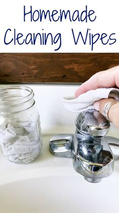 What a great recipe for DIY Cleaning Wipes. Way better than store bought!