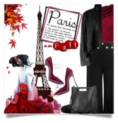 """""""Paris in the Fall"""" by captainsilly ❤ liked on Polyvore featuring Yves Saint Laurent, Roland Mouret, RED Valentino, ALDO, Casadei, Gucci and Tom Ford"""