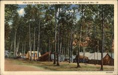 Fish Creek State Camping Grounds in the Adirondack Mountains Tupper Lake New York