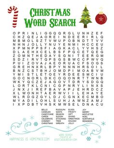 Printable Christmas Word Search for Kids & Adults creative inspiration for the entire family!Printable Christmas Word Search for Kids & AdultsThis fun printable Christmas Word Search puzzle Xmas Games, Christmas Games For Kids, Holiday Games, Christmas Words, Noel Christmas, Christmas Humor, Winter Christmas, Holiday Fun, Christmas Crafts