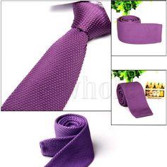 Галстук вязаный фиолетовый однотонный - купить в Киеве и Украине по недорогой цене, интернет-магазин