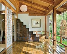 Traditional Japanese house interior. It\'s so open and in harmony ...