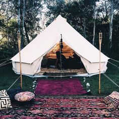This is what we like to call glamping, which of course is glam camping! The type of camping we are totally into!