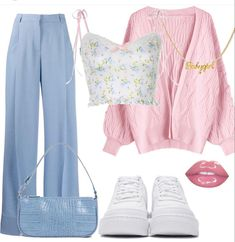 Swag Outfits For Girls, Retro Outfits, Cute Casual Outfits, Stylish Outfits, Girl Outfits, Kpop Fashion Outfits, Womens Fashion, Mode Style, Aesthetic Clothes
