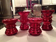 Set of Red Candle Holders in Naperville, Illinois