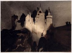 Castle in the night, Victor Hugo Musée Victor Hugo, Odilon Redon, Ink Master, Fun At Work, Work Inspiration, Artist At Work, Les Oeuvres, Fine Art, Drawings
