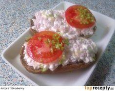 Lehká cottage pomazánka Mango Recipes, No Salt Recipes, New Menu, Party Snacks, Bon Appetit, Ham, Catering, Smoothies, Muffin