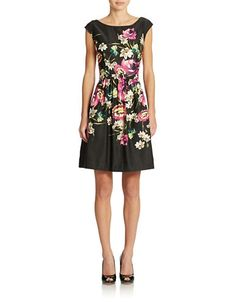 Brands | Dresses | Floral Fit and Flare Dress | Lord and Taylor