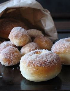 Baked yeast donuts - might try this technique with my grandma's doughnut recipe