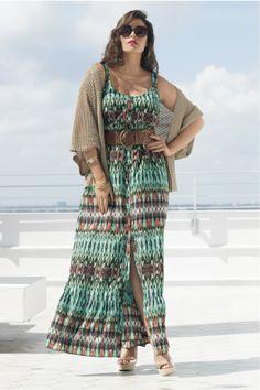 Bellatrix Print Maxi Dress! Love this whole look