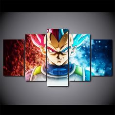 Frame Canvas Dragon Ball Anime Pictures Super Saiyan Poster Wall Art Home Anime Kunst, Anime Art, Dragon Ball Z, Poster Wall, Poster Prints, Posters, Mika, Dope Wallpapers, Square Canvas