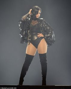 Stunning! Demi Lovato, 23, carried her body confidence onto the stage on Friday when she performed in a racy thong leotard during her co-headline show at the BB&T Center in Sunrise, Florida