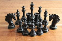 The Mayfield Triple Weighted Chess Pieces in Red/Black