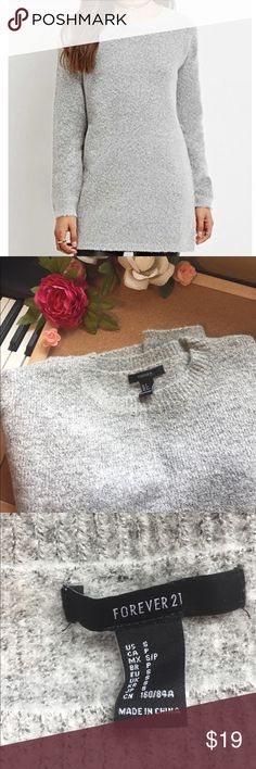 ❄️Longline Marled Knit Sweater❄️ Super soft long sweater🎀 Perfect for the winter ❄️ Size bigger, good for a Medium size. Never worn. Forever 21 Tops Tees - Long Sleeve