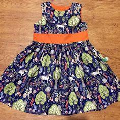 Girl's Dress Girls Woodland Animal  Dress  by LTclothingboutique