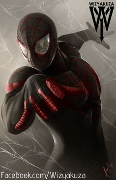 Spider-Man Miles Morales Marvel Comics 11 x 17 by Wizyakuza